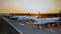 Parkende Flugzeuge März 2020