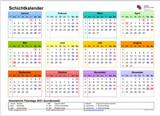 Schichtkalender für 2022